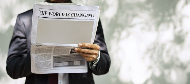Zeitungsüberschrift Change